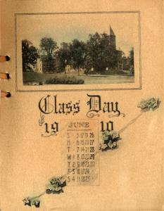 From the Class Day 1910 program booklet