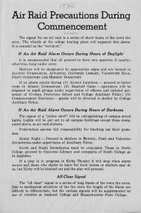 Notice distributed at the 1942 Commencement