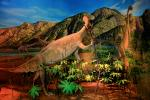 Diorama of Amherst from 190 million years ago