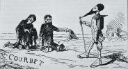 Caricature de La Rencontre (Bonjour M. Courbet)