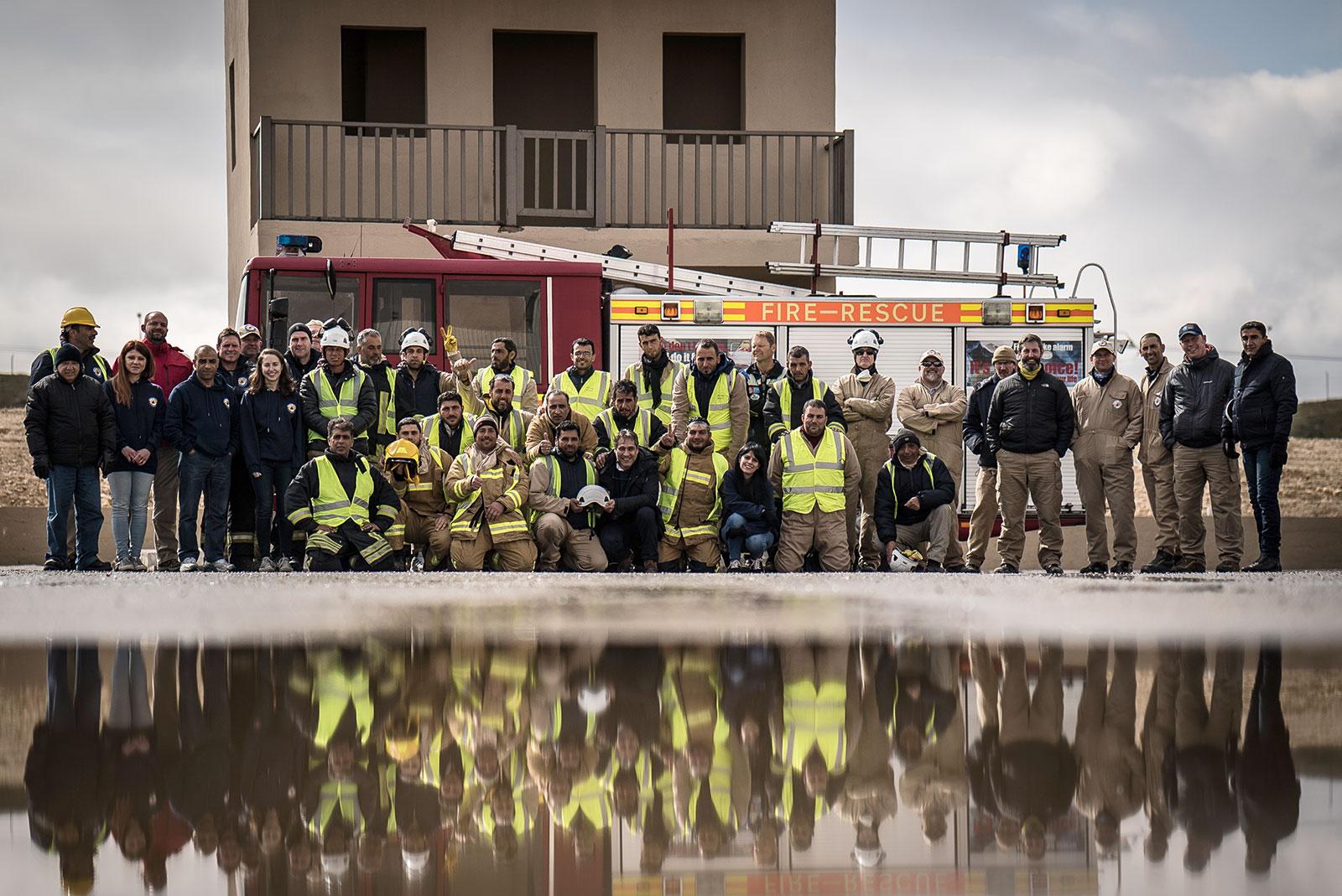 Fire training for the White Helmets